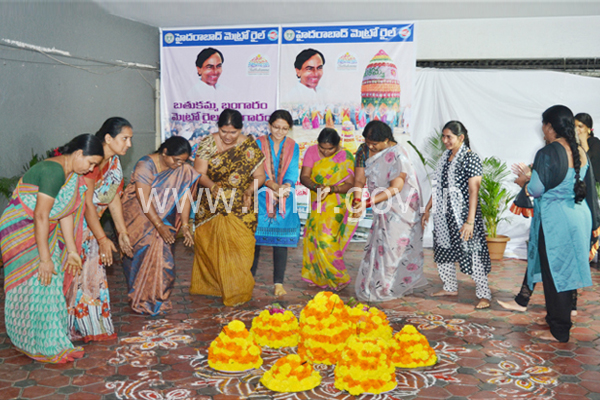 Bathukamma Celebrations at HMR Office, dt:02.10.2014