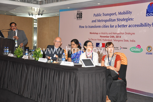 Cooperation programme between Hyderabad and Bordeaux (France) on Mobility and Metropolitan Strategies on 24.11.2014