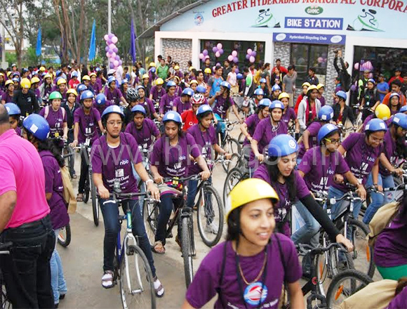 Cycling event for Women on International Women's Day, dt.08.03.2014