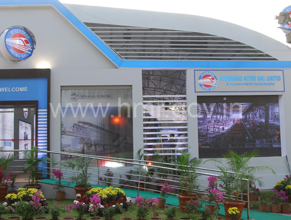 Inauguration of Hyderabad Metro Rail stall at All India Industrial Exhibition, Numaish, dt:04.01.2014