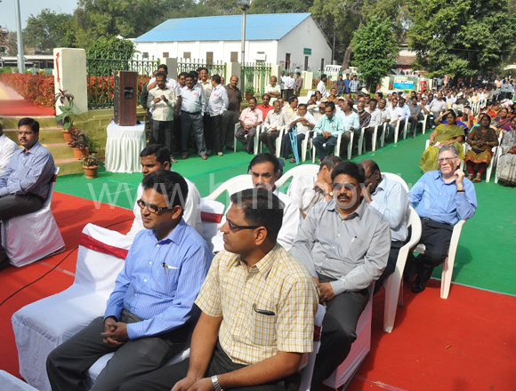 Inauguration of renovated garden by HMR MD Mr. NVS Reddy at Lekha Bhavan, Secunderabad, dt: 24.01.2014