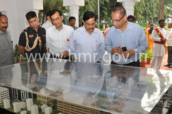 MD, HMR with HE Governor at Raj Bhavan on 14.11.2014