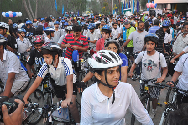 MD, HMR Mr.NVS Reddy at 'Bicyclone-3' event on 29.03.2014​