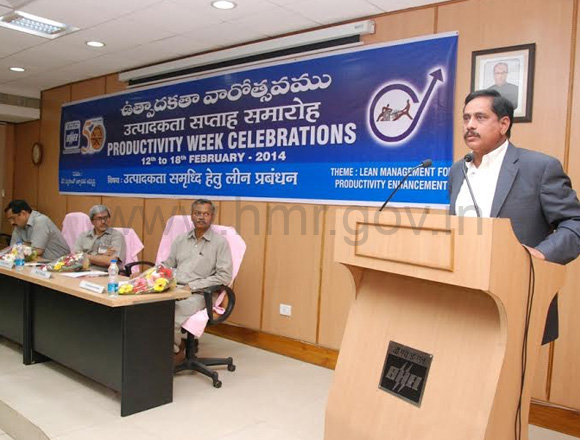 HMR MD Mr.NVS Reddy at Productivity Week Celebrations, BHEL, dt.12.02.2014