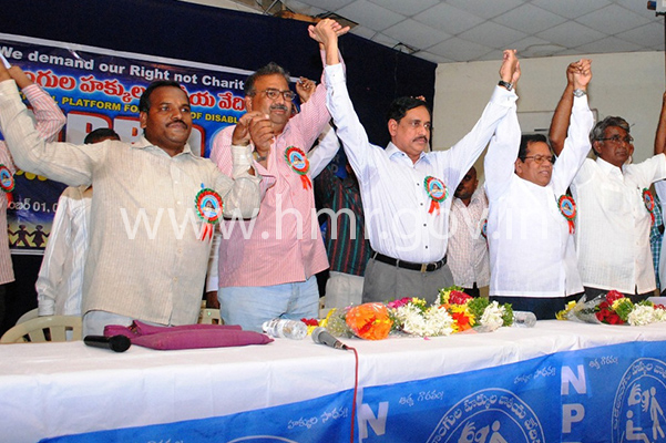 MD, HMR inaugurates 1st Telangana State conference of NPRD, dt:01.11.2014
