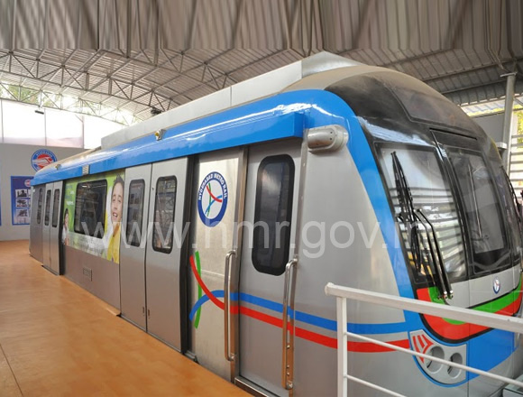 Metro Rail model coach at All India Industrial Exhibition Grounds, Nampally, dt: 25.01.2014