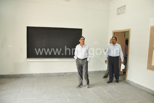 MD, HMR inspecting newly constructed Government High School building in Chaderghat