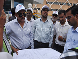 MD, HMR & Addl. CP (Traffic) joint inspection of Metro Rail Corridor I & III