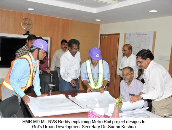 Inspection by HMR MD along with Dr.Sudhir Krishna, Prl. Secy. GoI, MoUD, dt: 12-06-2012