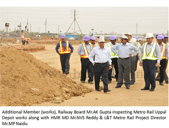 Inspection by HMR MD along with Mr. A.K.Gupta additional member (works) Railway Board, dt: 11-06-2012