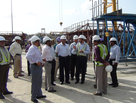 Inspection by HMR MD with Railway Board officials at Uppal PCY, dt: 13-08-2012