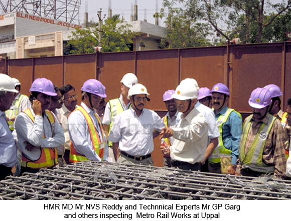 Inspection by HMR Technical Experts Mr.G.P.Garg, Mr.C.B.K.Rao and others, dt: 18-05-2012