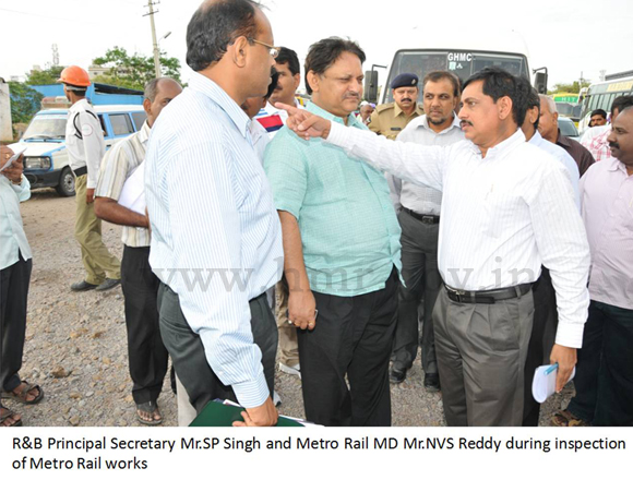 Inspection by Traffic Management Sub-committee, dt: 27-06-2012