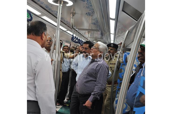 Principal Secretary, MA&UD Dept and HMR MD Inspect Metro works, dt:23.01.2015